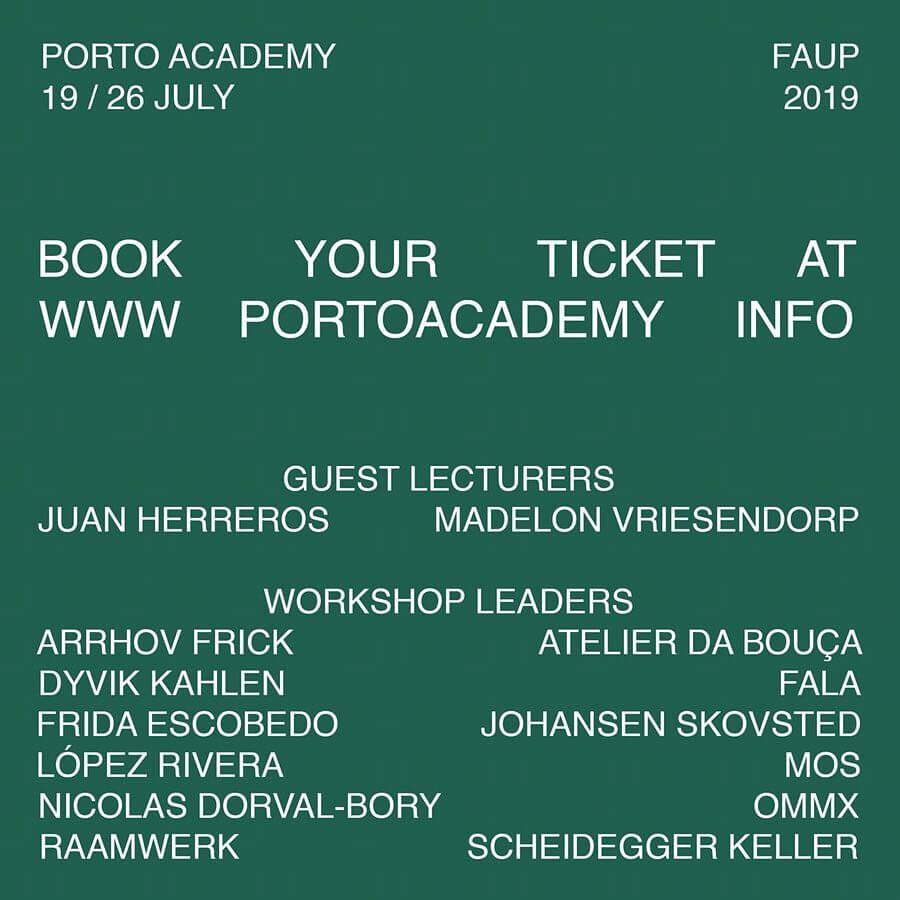 porto academy na Faculdade de arquitectura da universidade do Porto