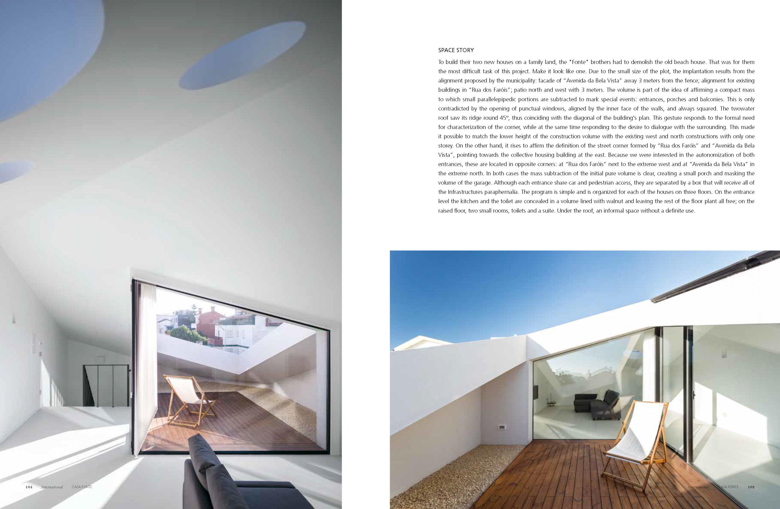 Deco Jornal Revista Arquitetura Lousinha Arquitectos Página 8 do fotografo Ivo Tavares Studio