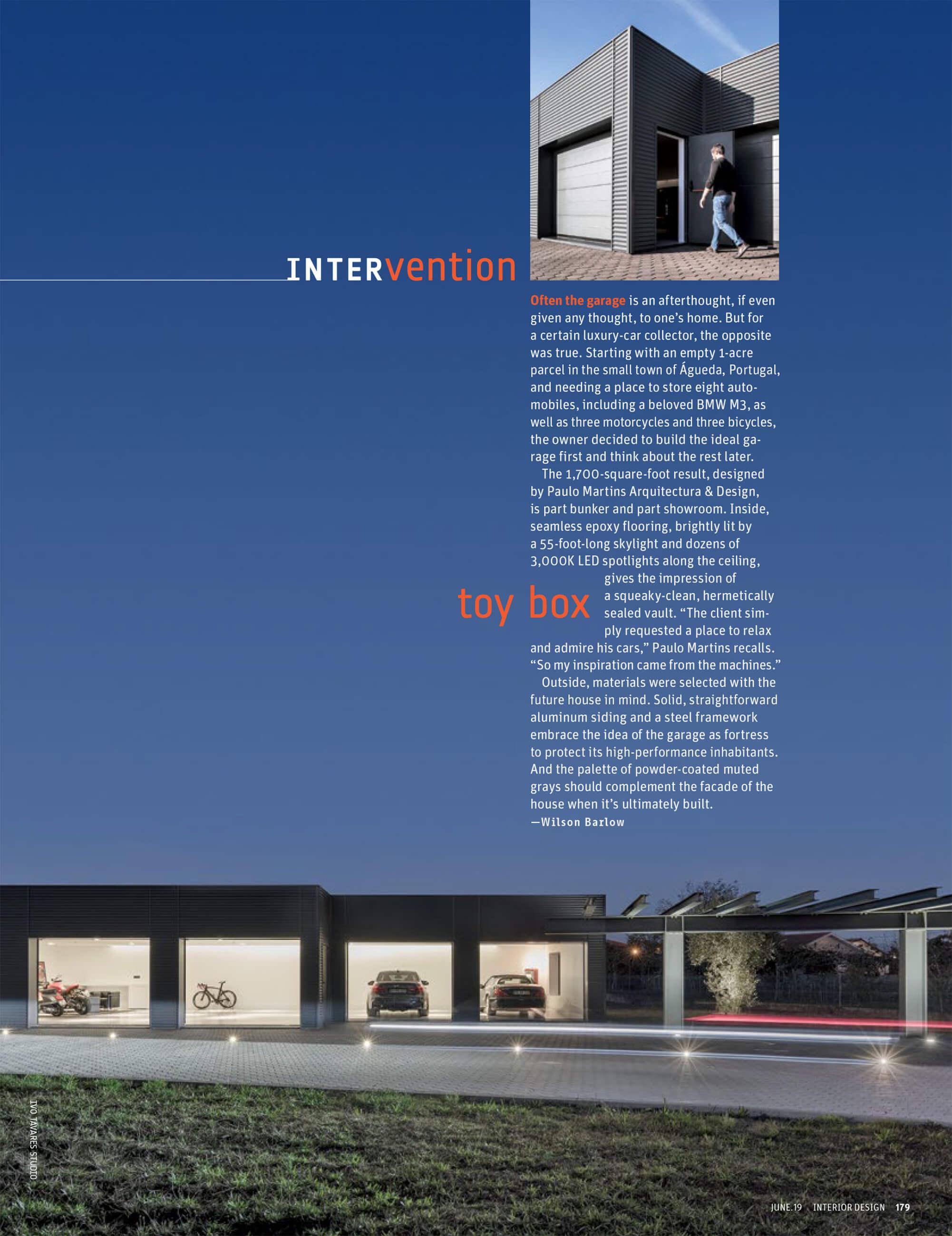 Interior Design Magazine June 2019 do fotografo Ivo Tavares Studio