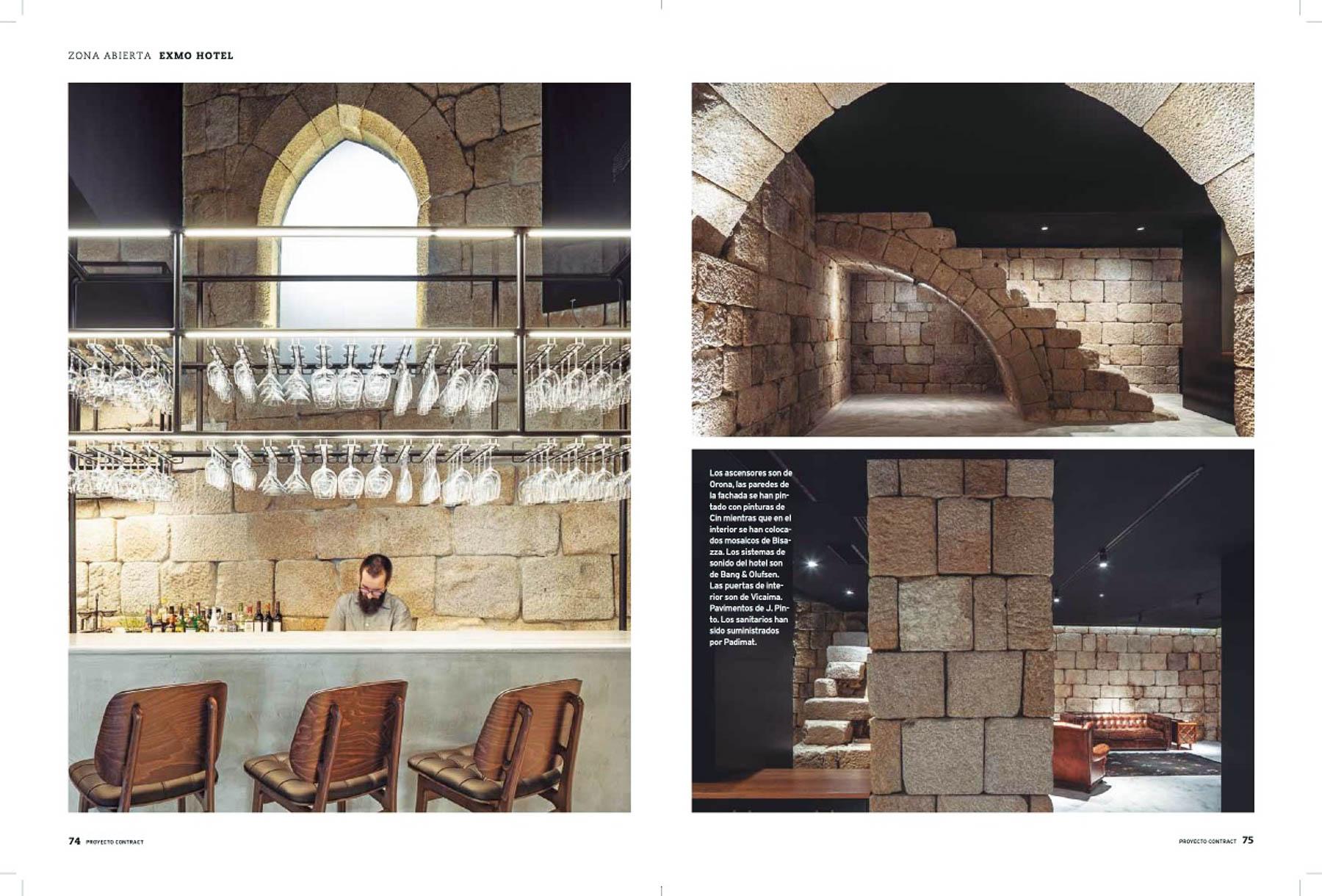 Revista Proyecto Contract Com O Exmo Hotel No Porto Do Atelier F do fotografo Ivo Tavares Studio