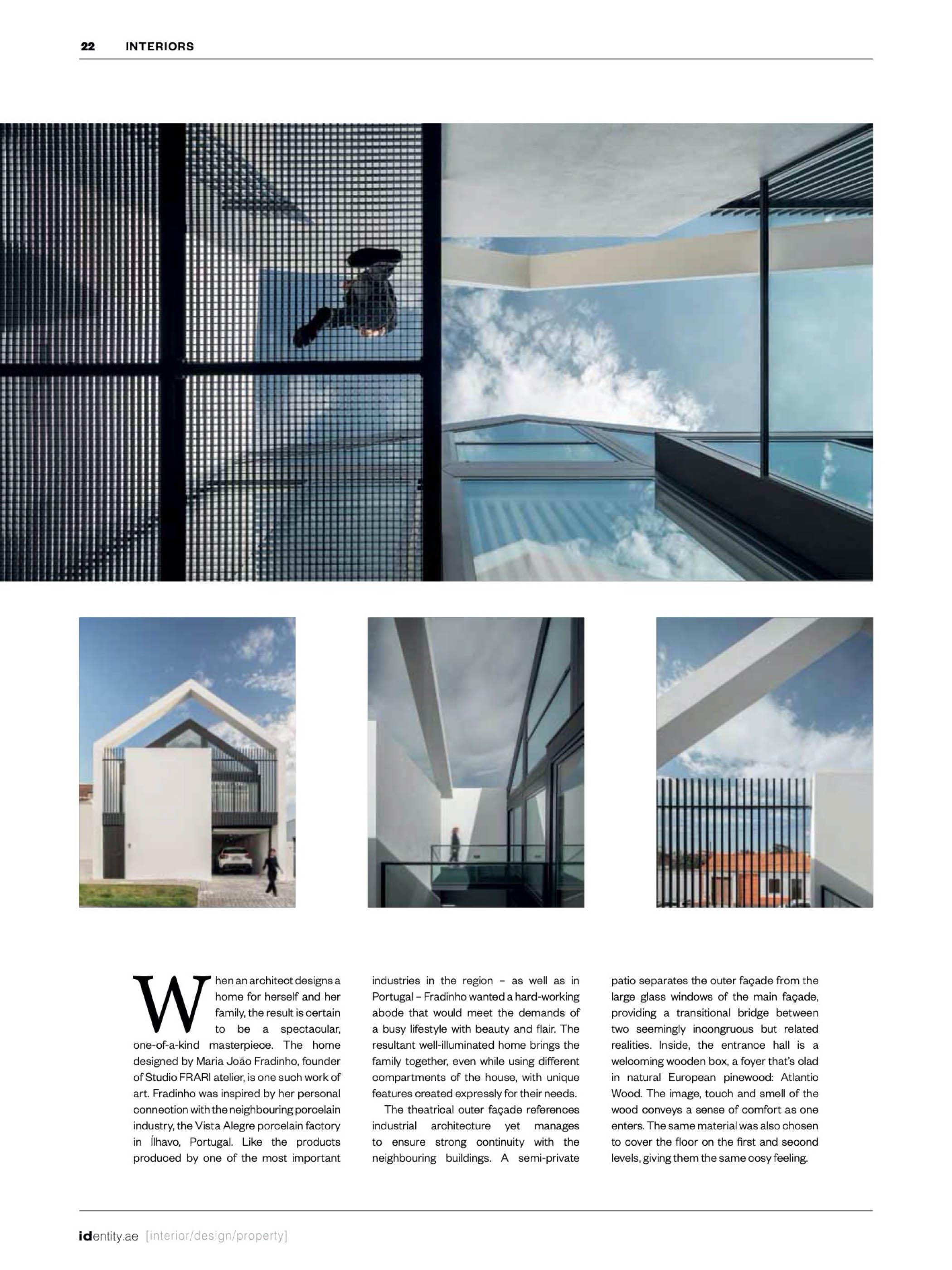 Casa Do Arco Em ílhavo Do Atelier Frari Arquitectura Publicado do fotografo Ivo Tavares Studio
