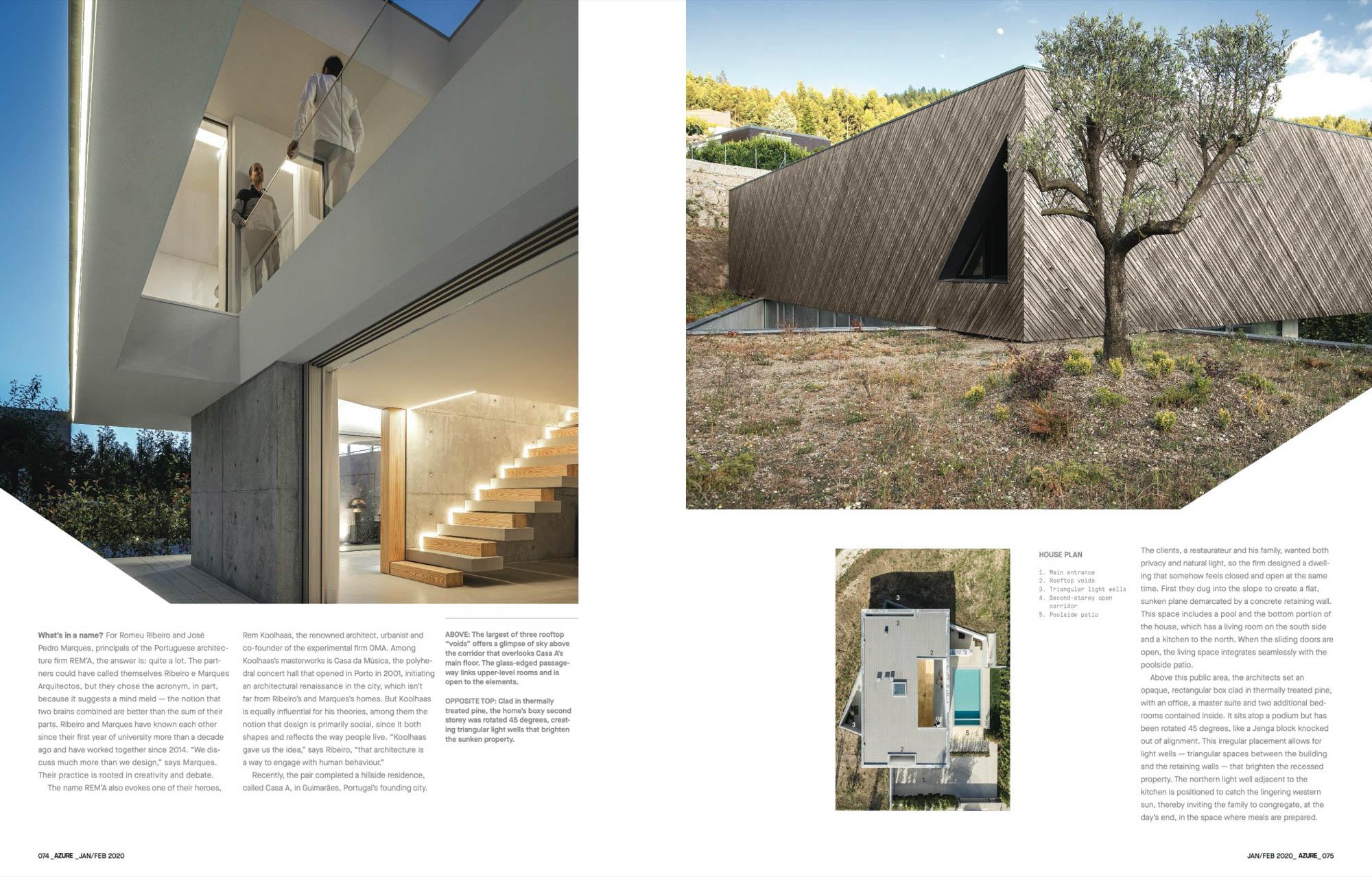 Casa A Em Guimarães Do Atelier Rem'a Publicado Na Revista Azure do fotografo Ivo Tavares Studio