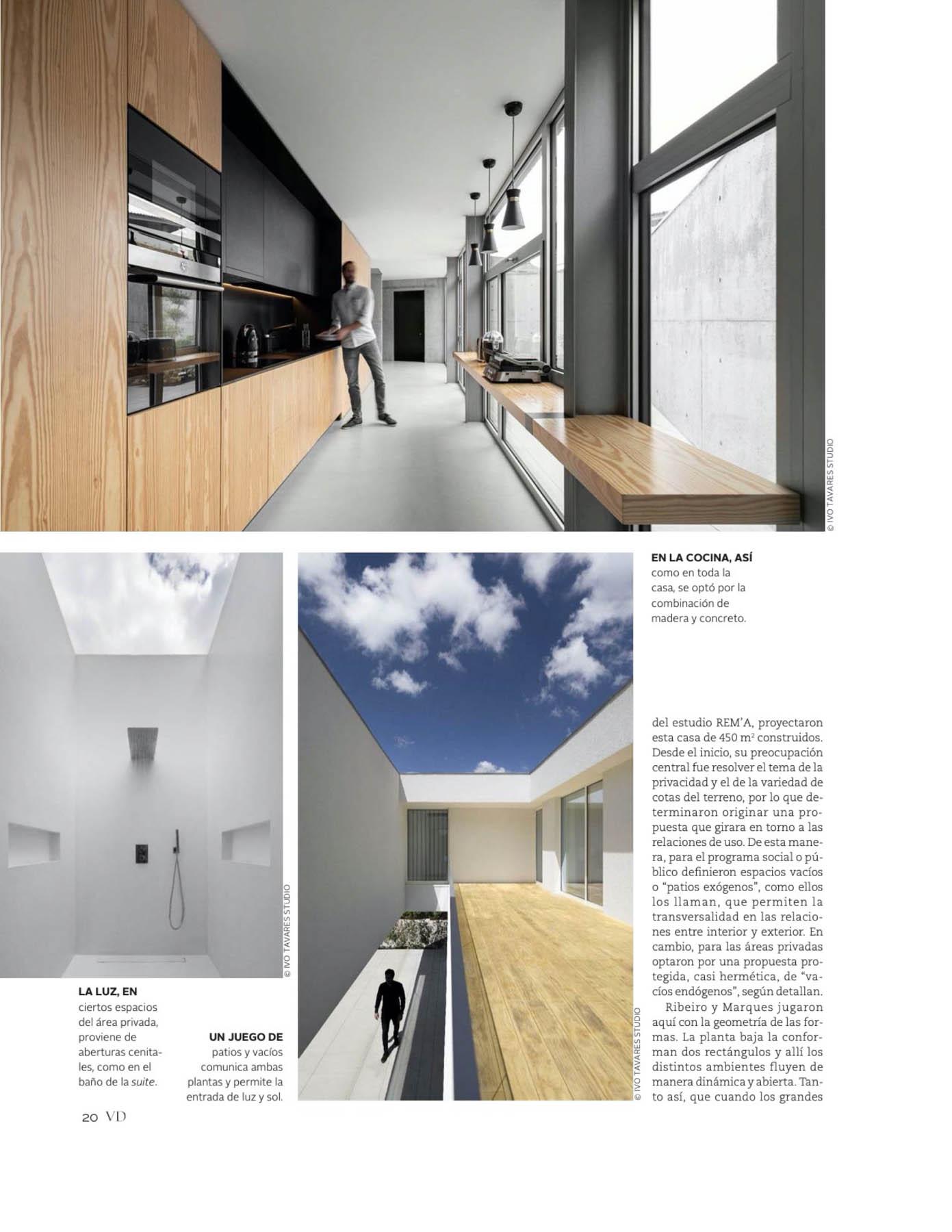 Rem'a Arquitectos com a Casa A de Guimarães na revista VD El Me