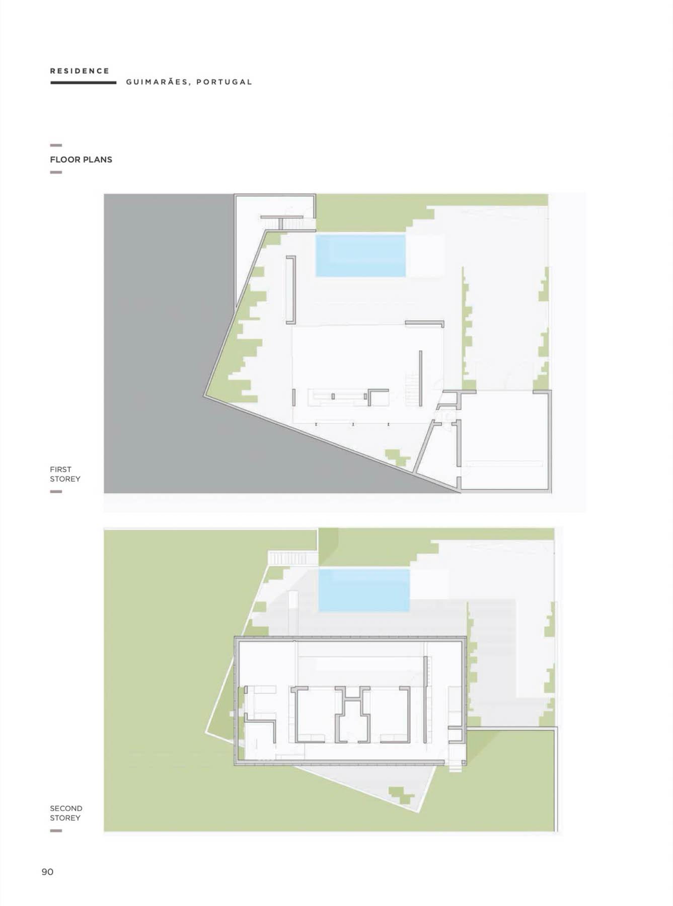 Casa A em Guimarâes do atelier de arquitectura REMA publicado n