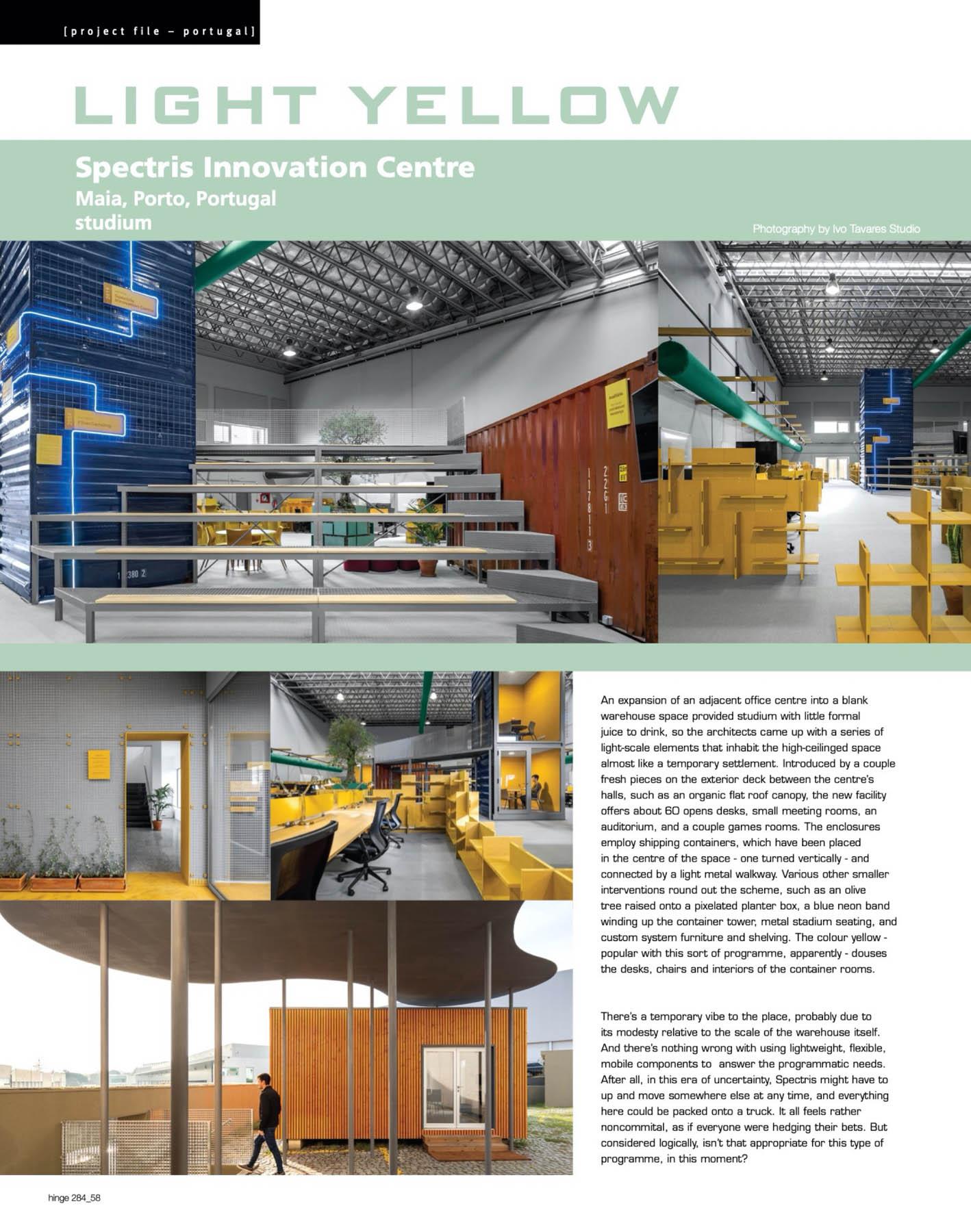HBK Spectris Innovation Centre no Porto do atelier Studium publi