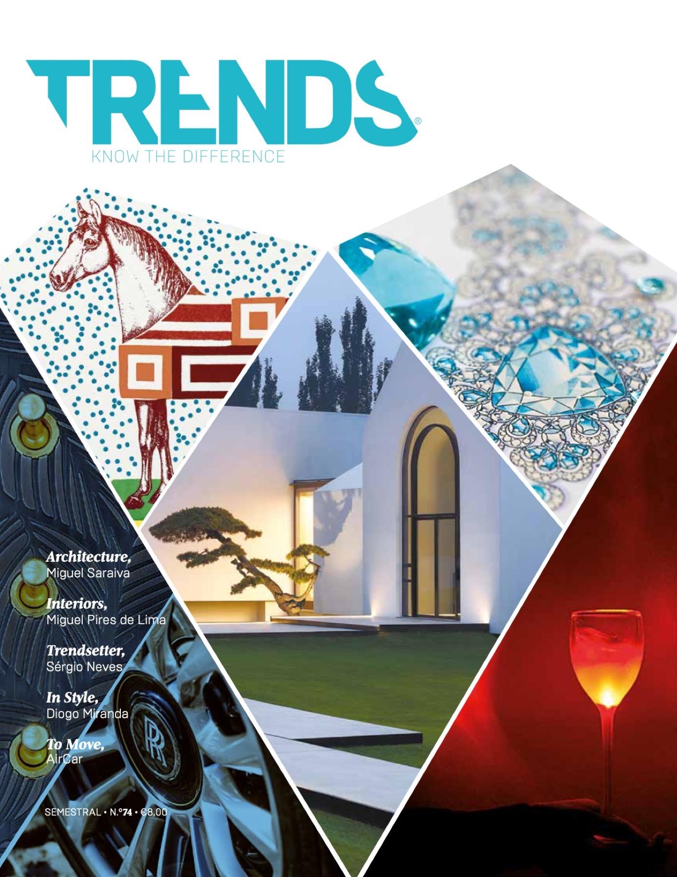 Revista TRENDS com Floret Arquitectura, Ren Ito, REM'A e Paulo Merlini